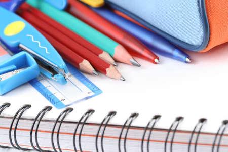 back to school - close-ups of school supplies photo