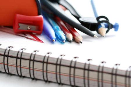 closeups: back to school - close-ups of school supplies