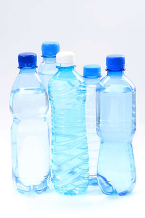 five bottles of mineral water - food and drink Stock Photo - 3388463