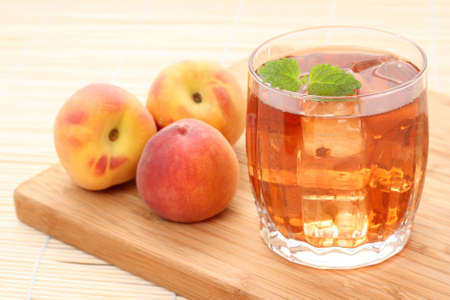 icecube: glass of fruity ice tea perfect for hot summer