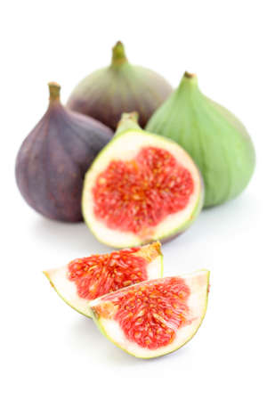 closeups: close-ups of fresh figs - food and drink Stock Photo