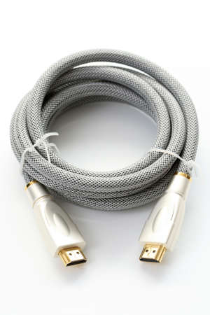 hdmi cable: hdmi cable isolated on white - new technology