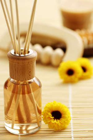 air diffuser: bottle of air freshener - beauty treatment