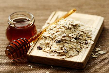 oatmeal and honey - beauty treatment Stock Photo - 4131809