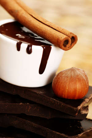bowl of hot chocolate - food and drink photo