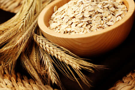 wild oats: bowl of oats - healthy eating - food and drink Stock Photo