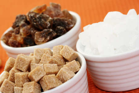 sweetness: white and brown granulated sugar - food and drink