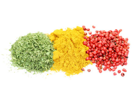 closeups: close-ups of different aromatic spices - food and drink