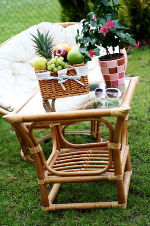 perfect place to relax - picnic basket photo