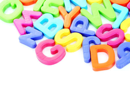 colorful letters on white background - education Stock Photo - 4951230