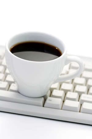cup of coffee at work - coffee break Stock Photo - 4996718
