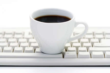 cup of coffee at work - coffee break Stock Photo - 4996701
