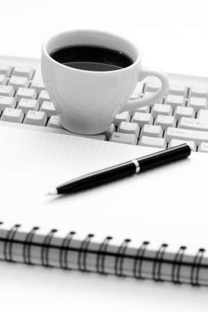 cup of coffee at work - coffee break Stock Photo - 5025886