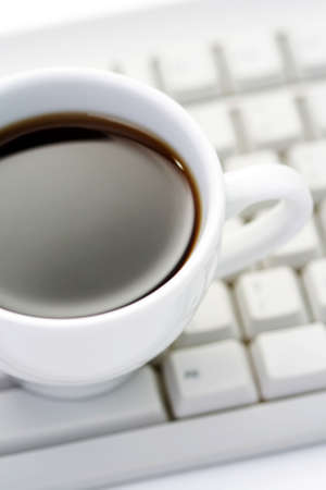 cup of coffee at work - coffee break Stock Photo - 5025873