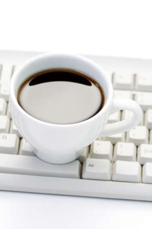 cup of coffee at work - coffee break Stock Photo - 5050866