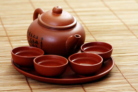 Chinese tea service - food and drink photo