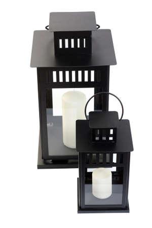 lantern isolated on white - home decoration photo