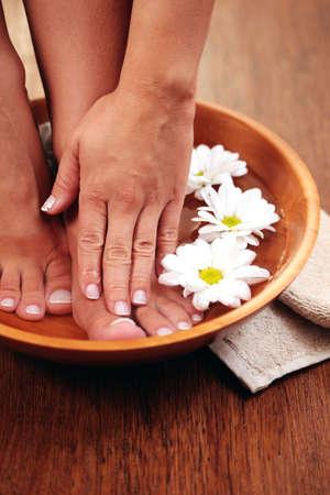 relaxing bath for feet - beauty treatment photo