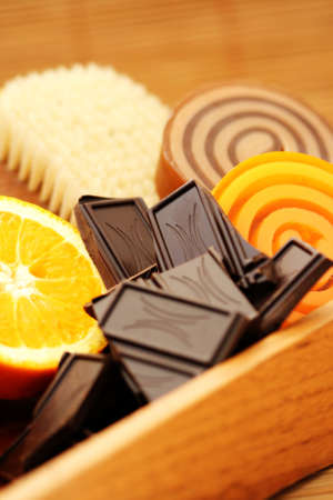 chocolate and orange glicerin soaps - beauty treatment