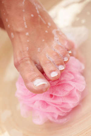 relaxing bath for feet - beauty treatment photo