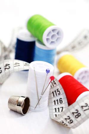 close-ups of sewing stuff photo