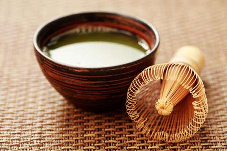 matcha: cup of matcha traditional japanese tea - tea time
