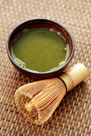 cup of matcha traditional japanese tea - tea time photo