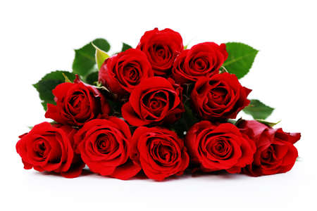 bunch of red roses: bunch of beautiful roses - flowers and plants Stock Photo