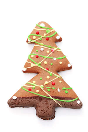 gingerbread Christmas tree on white background - sweet food Stock Photo - 6344315