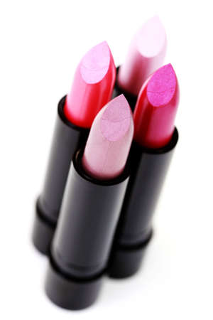four different color of lipstick - beauty treatment Stock Photo - 6770393