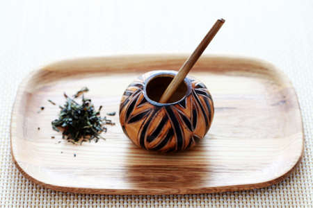 traditional calabash and yerba mate - tea time photo