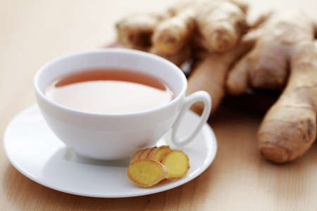 cup of ginger tea - food and drink