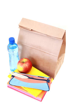 lunch for school on white - food and drink Stock Photo - 6944340