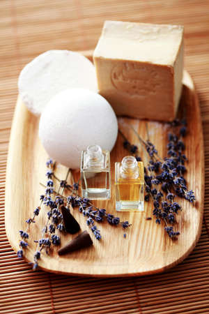 massage oil: natural soap with aromatic massage oil - beauty treatment
