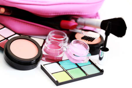 all you need to have lovely make-up on white - beauty treatment Stock Photo - 7045171