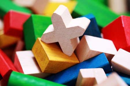juguetes de madera: Fondo de coloridos bloques de madera