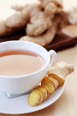 jenjibre: taza de t� de jengibre - comida y bebida Foto de archivo