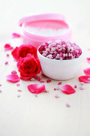 box of luxury face cream with roses - beauty treatment photo