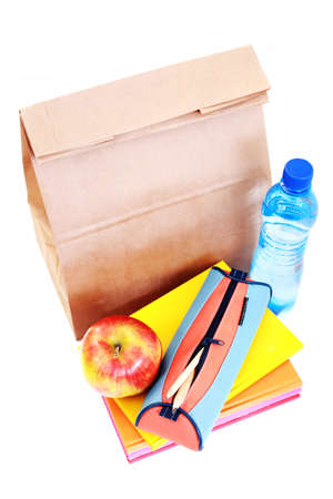 lunch for school on white - food and drink Stock Photo - 7424768