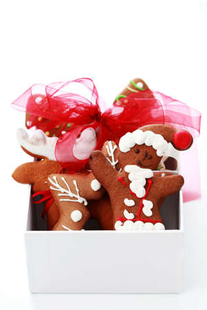 box full of Christmas gingerbreads - sweet food Stock Photo - 7566667