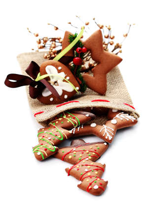 full of Christmas gingerbreads - sweet food Stock Photo - 7566664