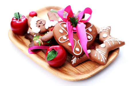 plate full of Christmas gingerbreads - sweet food Stock Photo - 7566646