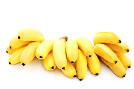 banana bunch on white background - fruits and vegetables
