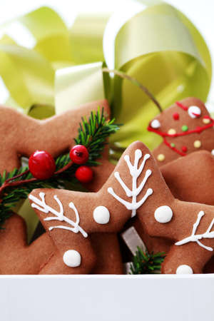 box full of Christmas gingerbreads - sweet food Stock Photo - 7742225