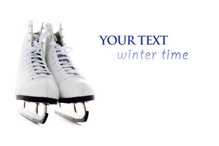ice skate on white background - sport and leisure photo