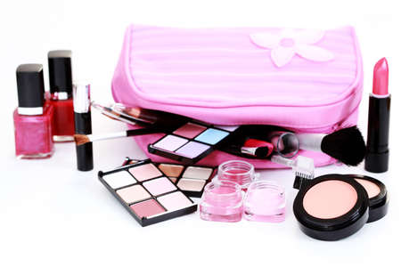 all you need to have lovely make-up on white - beauty treatment Stock Photo - 7933983