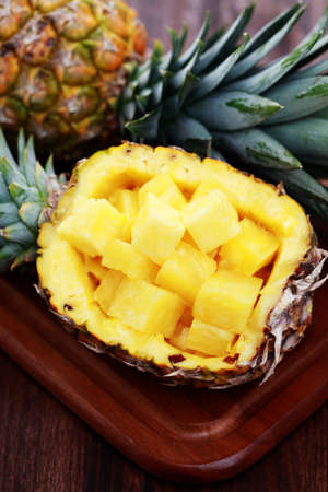 fresh pineapple ready to eat  - fruits and vegetables