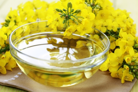 canola: bowl of edible olive oil - food and drink