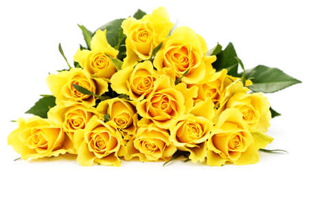 bunch of lovely yellow roses - flowers and plants Stock Photo - 8935305