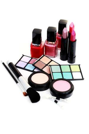 stage makeup: tutto quello che devi avere perfetta make - up - trattamento di bellezza Archivio Fotografico